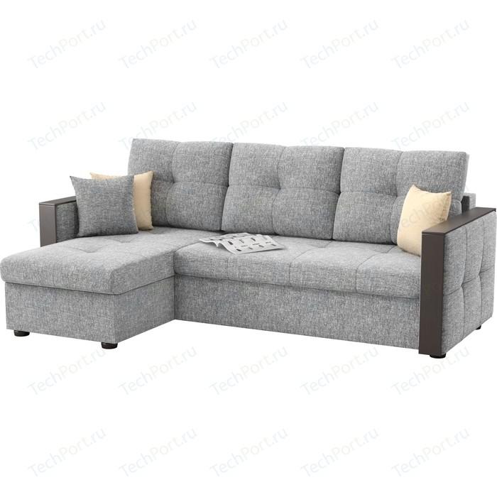 Фото - Угловой диван АртМебель Валенсия рогожка серый левый угол диван артмебель валенсия рогожка серый п образный