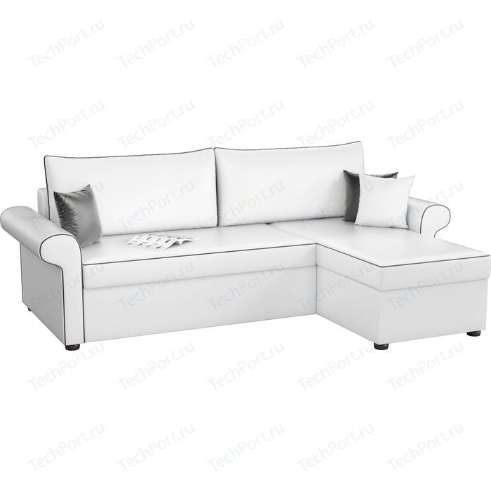 Угловой диван Мебелико Милфорд эко-кожа белый правый угол