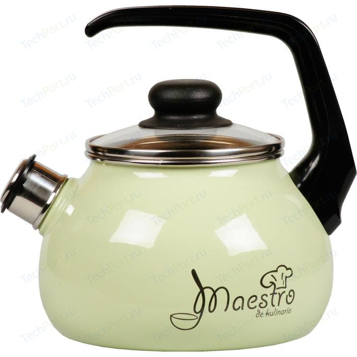 Чайник эмалированный со свистком 2 л Vitross Maestro (1RA12 салатовый)