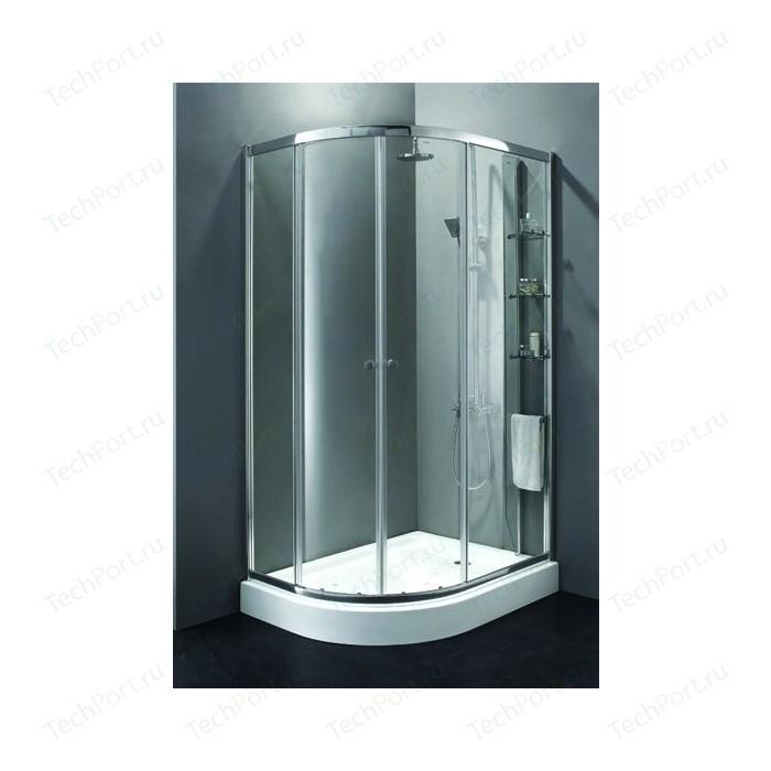Душевой уголок Cezares ANIMA-W-RH-2-120/100-C-Cr-R правый, с поддоном, профиль хром, стекло прозрачное