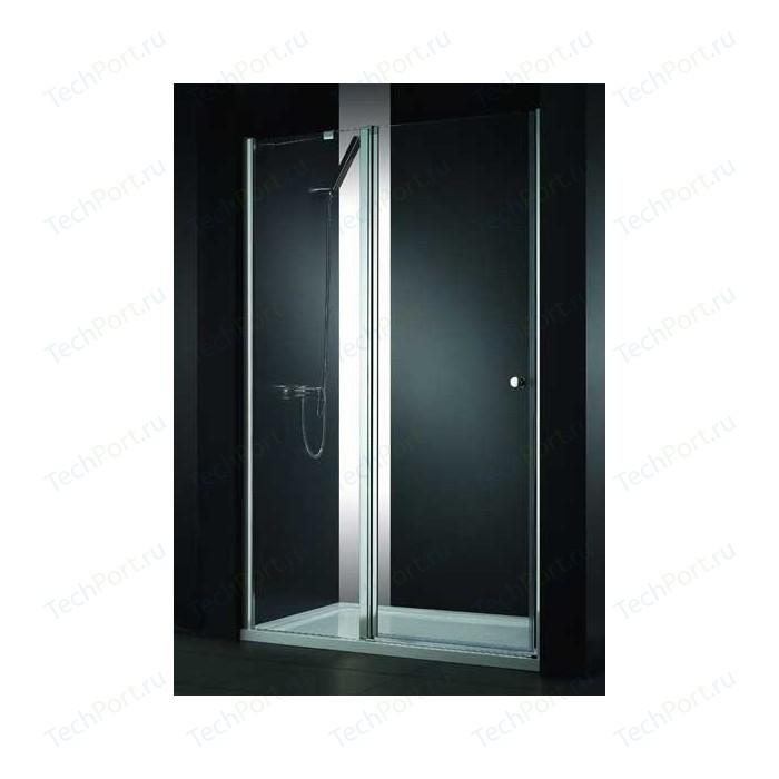Душевая дверь Cezares Elena W-B-12 120 прозрачная, хром (Elena-W-60/60-C-Cr, VE-W-WLM-Cr)