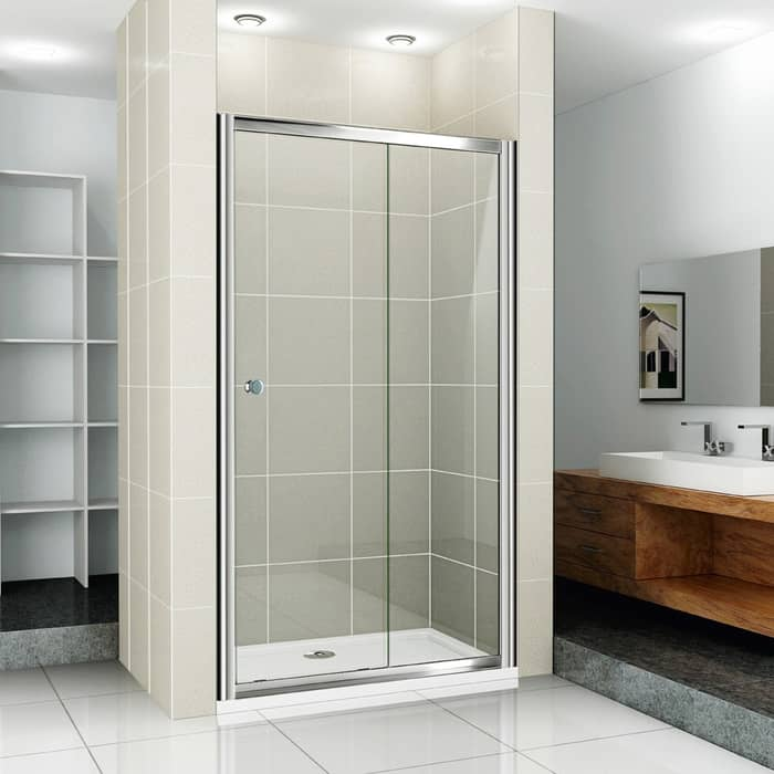 Душевая дверь Cezares Pratico BF-1 100 прозрачная, хром (Pratico-BF-1-100-C-Cr)