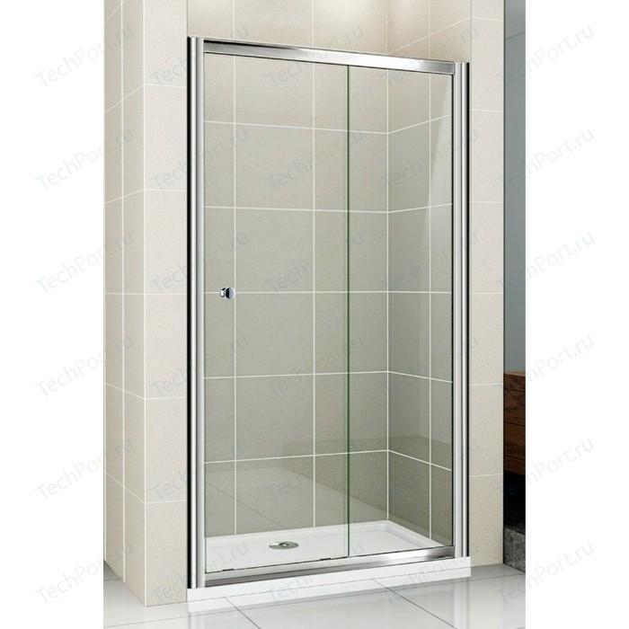 Душевая дверь Cezares Pratico BF-1 125 прозрачная, хром (Pratico-BF-1-125-C-Cr)