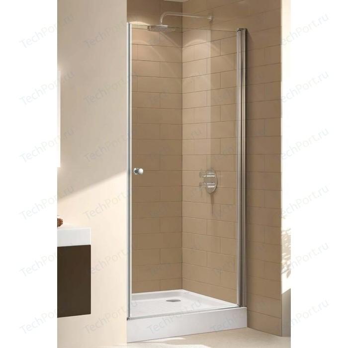 Душевая дверь Cezares Eco B-1 80x190 прозрачная, хром (ECO-O-B-1-80-C-Cr)