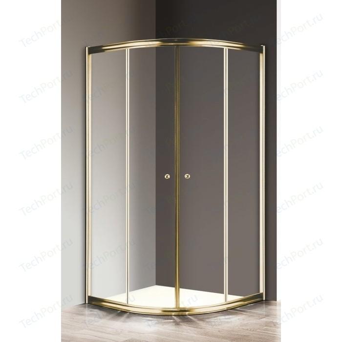 Душевой уголок Cezares Giubileo R-2 100х100 прозрачный, золото (Giubileo-R-2-100-Scorrevole-C-G)