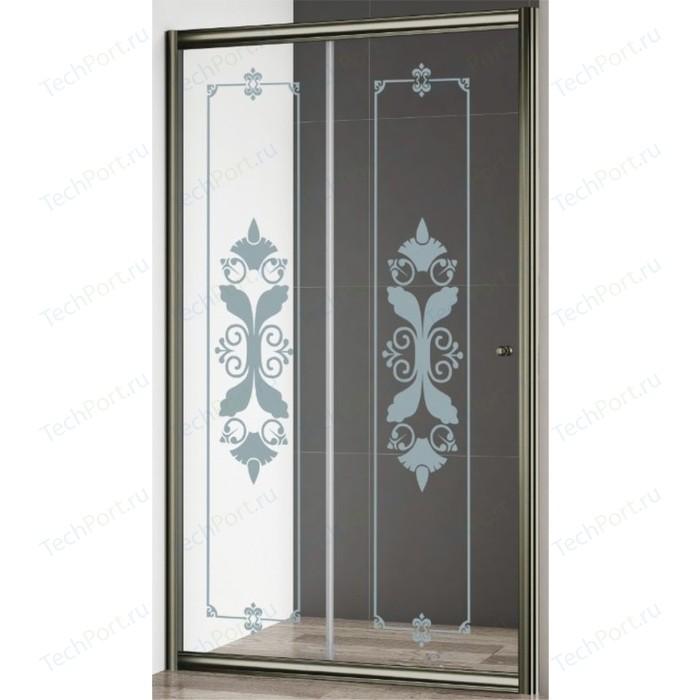 Душевая дверь Cezares Giubileo BF-1 120 Punto, бронза (Giubileo-BF-1-120-CP-Br)