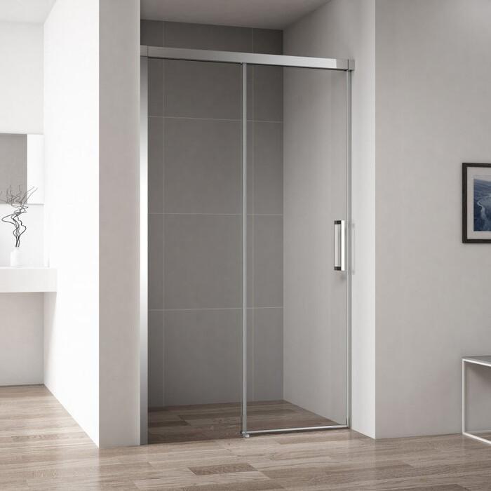 Душевая дверь Cezares Duet-Soft BF-1 L 100x195 левая, прозрачная, хром (DUET SOFT-BF-1-100-C-Cr-L)