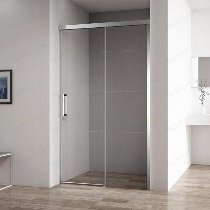Душевая дверь Cezares Duet-Soft BF-1 110x195 прозрачная, хром (DUET SOFT-BF-1-110-C-Cr)