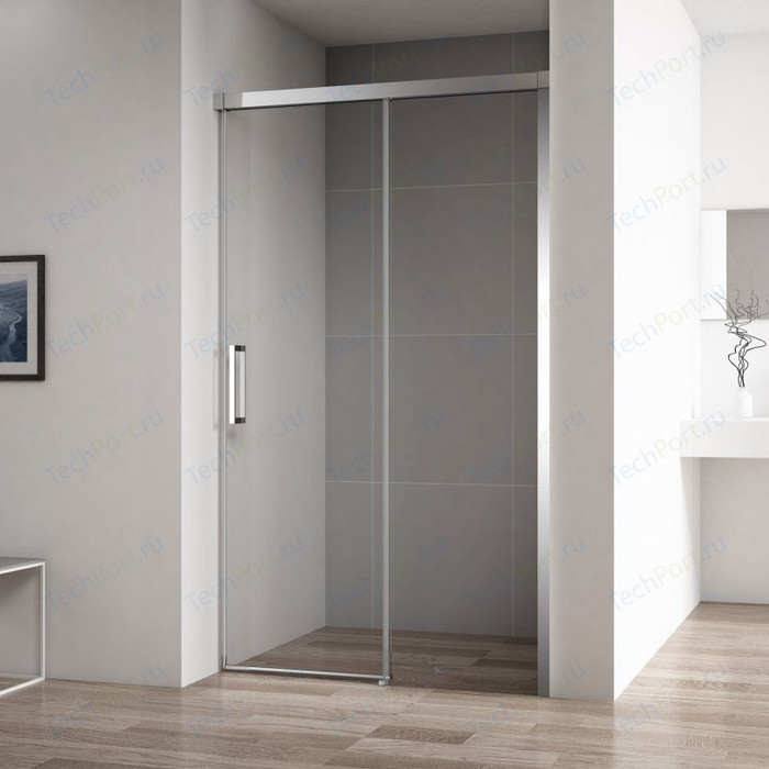 Душевая дверь Cezares Duet-Soft BF-1 120x195 прозрачная, хром (DUET SOFT-BF-1-120-C-Cr)
