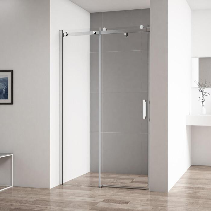 Душевая дверь Cezares Stylus-Soft BF-1 130x195 прозрачная, хром (STYLUS-SOFT-BF-1-130-C-Cr)