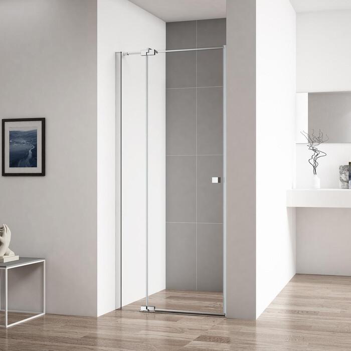 Душевая дверь Cezares Valvola B-1 80 прозрачная, хром (Valvola-B-1-80-C-Cr)