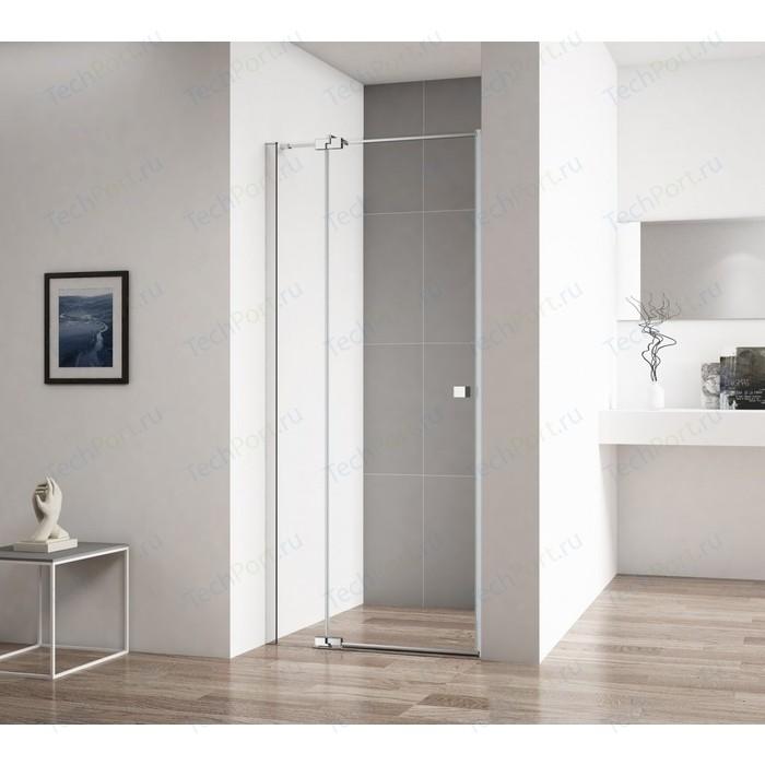 Душевая дверь Cezares Valvola B-1 90 прозрачная, хром (Valvola-B-1-90-C-Cr)