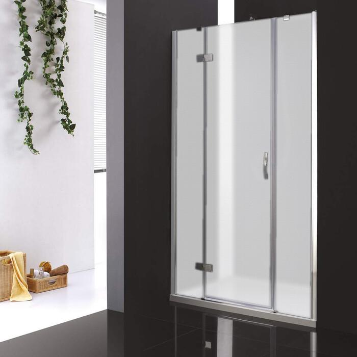 Душевая дверь Cezares Bergamo W-B-13 120 Punto, хром, левая (Bergamo-W-60/30-P-Cr-L, VE-W-30-FIX-P-Cr)
