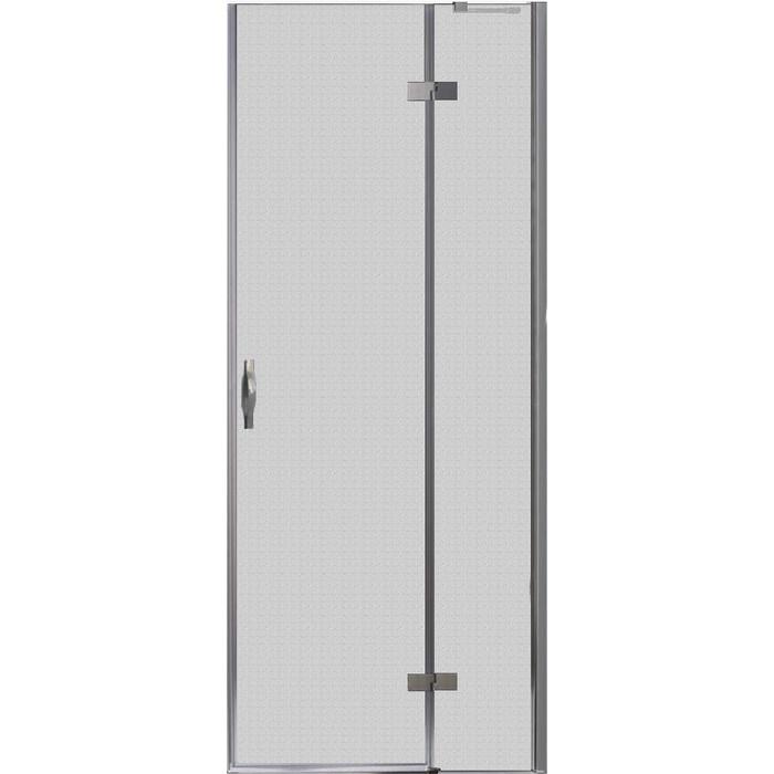 Дверное полотно Cezares BERGAMO-W-60/30-P-Cr-R правая профиль хром, стекло рифленое Punto