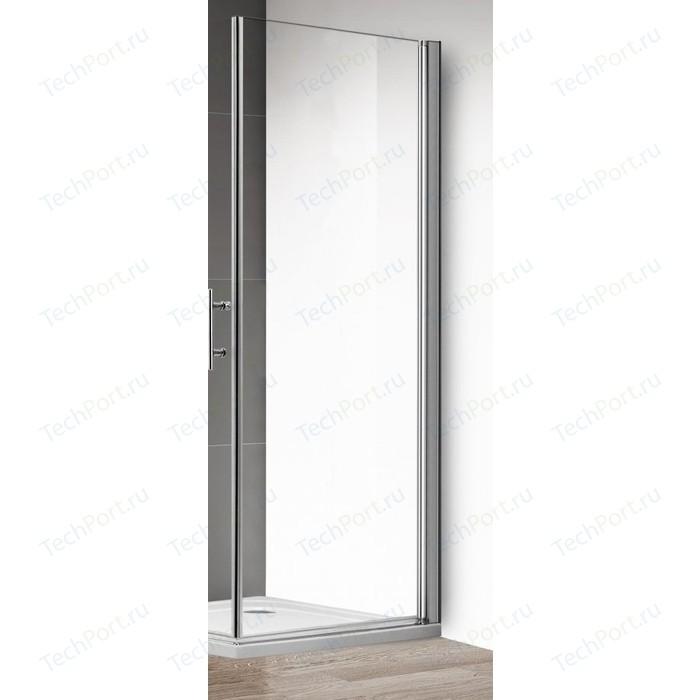 Боковая стенка Cezares Eco 100 Fix прозрачная, хром (ECO-100-FIX-C-Cr)