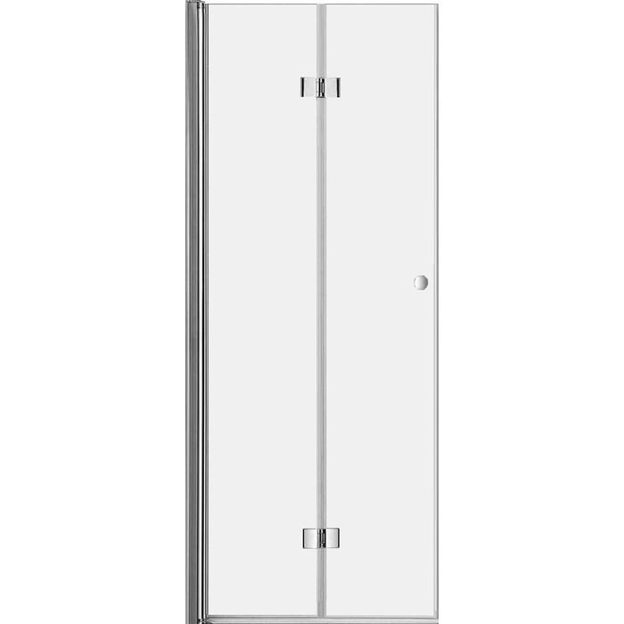 Дверное полотно Cezares Eco 80 прозрачнное, хром (ECO-O-40/40-C-Cr)