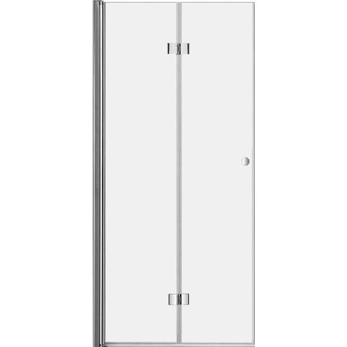 Дверное полотно Cezares Eco 90 прозрачнное, хром (ECO-O-45/45-C-Cr)