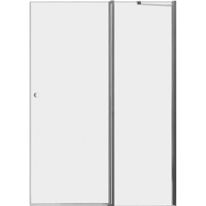 Дверное полотно Cezares ELENA-W-60/40-P-Cr-R правая профиль хром, стекло рифленое Punto