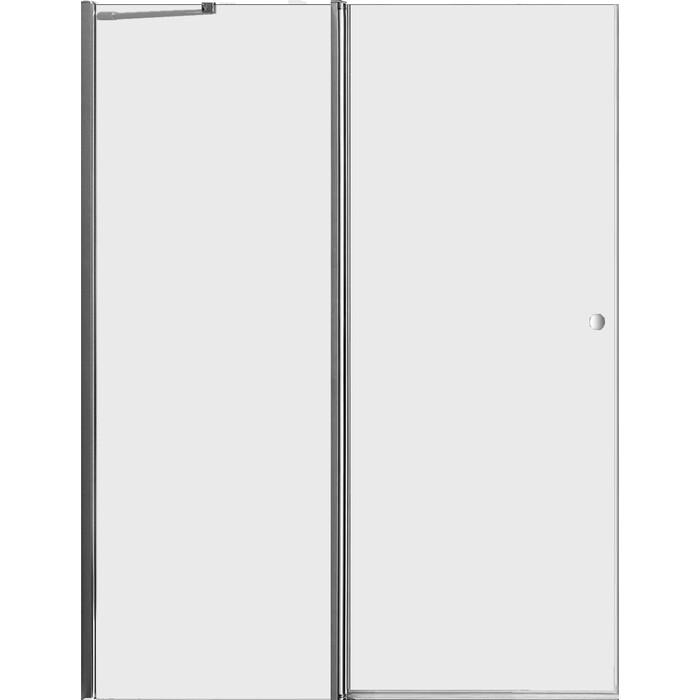 Дверное полотно Cezares ELENA-W-60/60-C-Cr профиль хром, стекло прозрачное