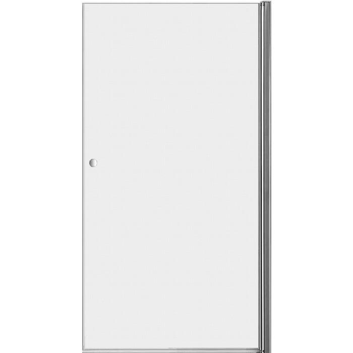Дверное полотно Cezares ELENA-W-90-P-Cr-R правая профиль хром, стекло рифленое Punto