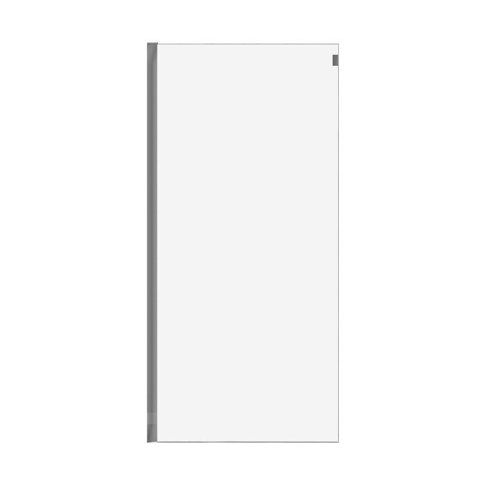 Универсальная боковая панель Cezares Stylus-M FIX 100x195 прозрачная, хром (STYLUS-O-M-100-FIX-C-Cr)