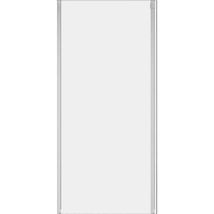 Универсальная боковая панель Cezares Stylus-Soft FIX 100x195 прозрачная, хром (STYLUS-SOFT-100-FIX-C-Cr)