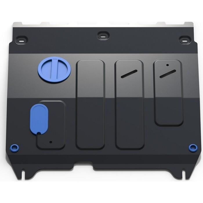 Защита картера и КПП Rival для Chevrolet Spark III АКПП (2010-2016) / Ravon R2 (2016-н.в.), сталь 2 мм, с крепежом, 111.1018.1