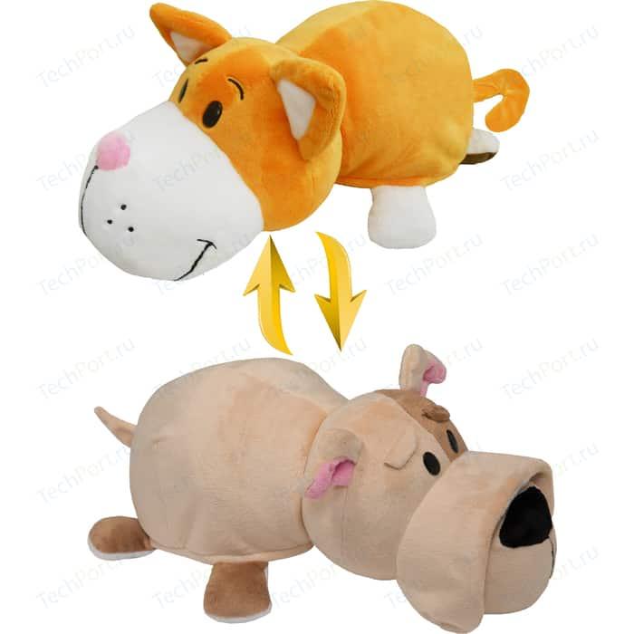 Мягкая игрушка 1Toy Вывернушка 35 см 2в1 Оранжевый кот-Бульдог (Т10926)