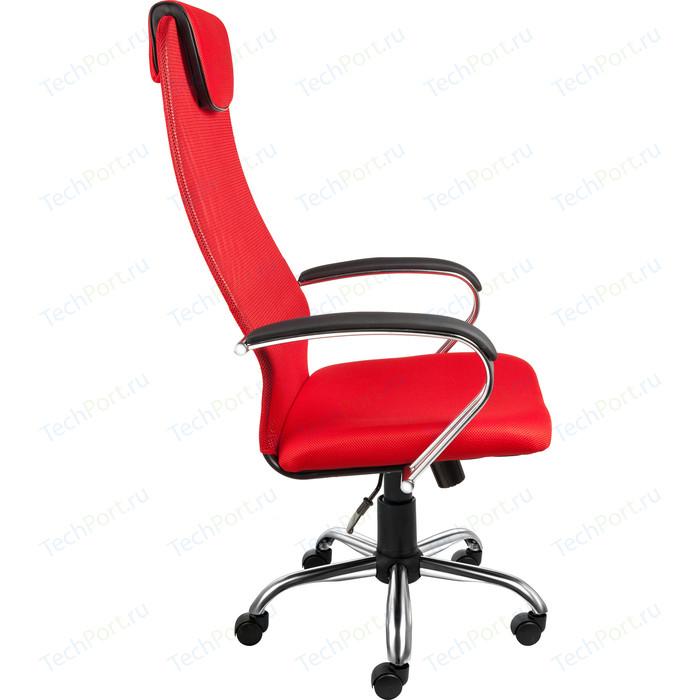 Кресло Алвест AV 142 CH (142 CH) MK кз TW сетка, сетка однослойная 311/457/474 черная/красн/ярко красная