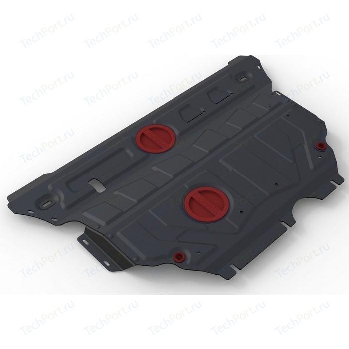 Защита картера и КПП АвтоБРОНЯ для Audi A3 (2012-н.в.) / Seat Leon (2013-2014) Skoda Superb (2015-н.в.) сталь 2 мм 111.00322.1