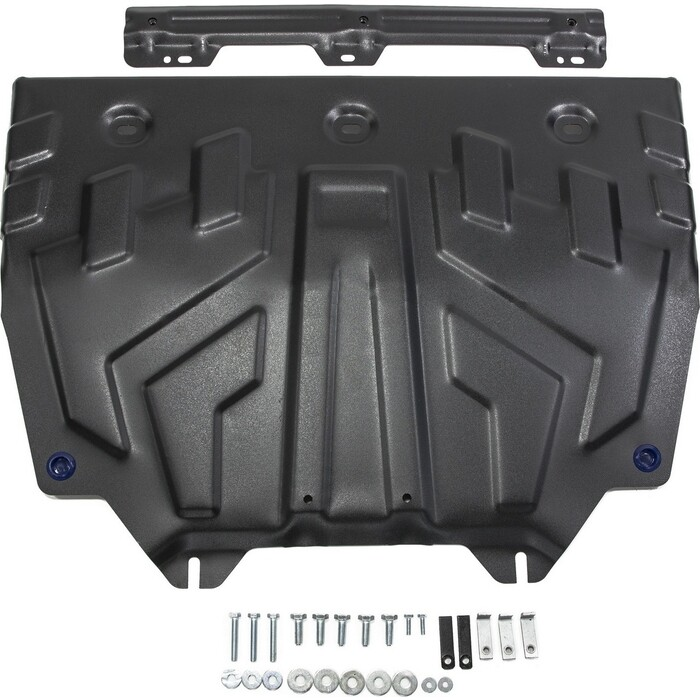 Защита картера и КПП Big Rival для Mazda 3 BM (2013-2018) / 6 GJ (2012-2018 2018-н.в.) CX-5 I, II (2011-н.в.) CX-9 (2017-н.в.), сталь 2 мм, 111.3817.1