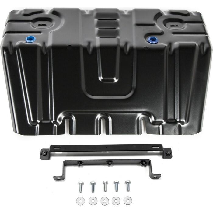 Защита радиатора Rival для Lexus GX 460 II (2009-2013 / 2013-н.в.) Toyota LC Prado 150 (2009-2017 2017-н.в.), сталь 2 мм, с крепежом, 111.9516.1