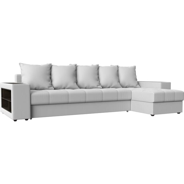 Угловой диван Мебелико Дубай эко-кожа белый правый угол