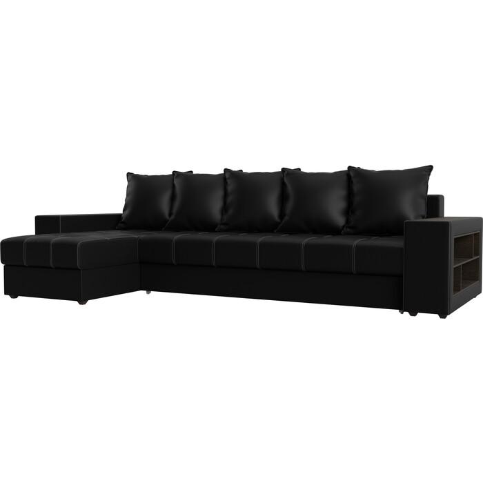 Угловой диван АртМебель Дубай эко-кожа черный левый угол угловой диван артмебель дубай эко кожа черный правый угол