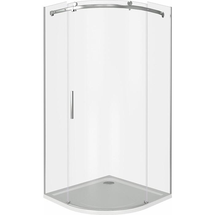 Душевой уголок Good Door Altair R 100х100 с поддоном, прозрачный, хром