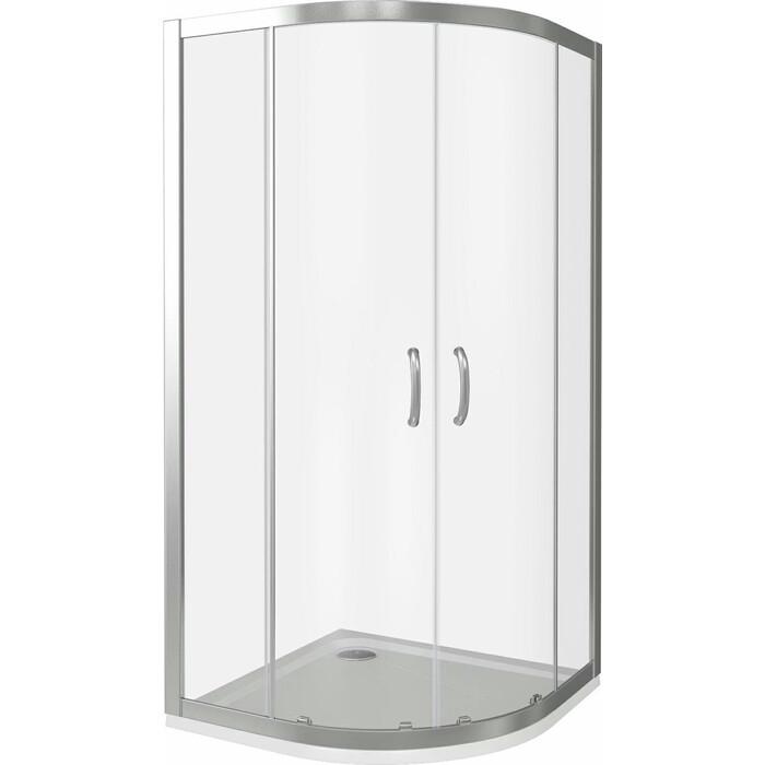 Душевой уголок Good Door Infinity R 80х80 с поддоном, прозрачный, хром комплектующие