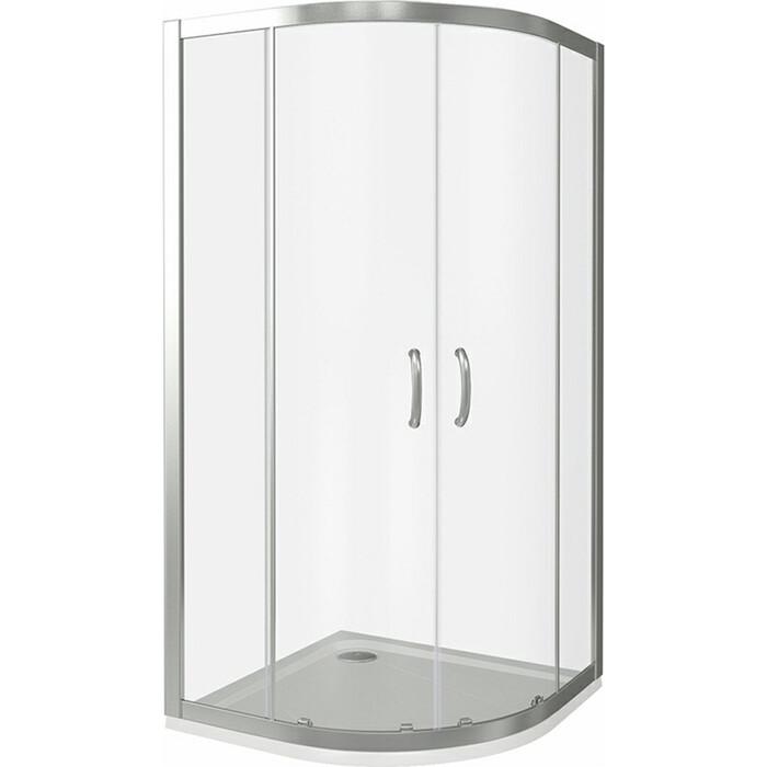 Душевой уголок Good Door Infinity R 100х100 с поддоном, прозрачный, хром