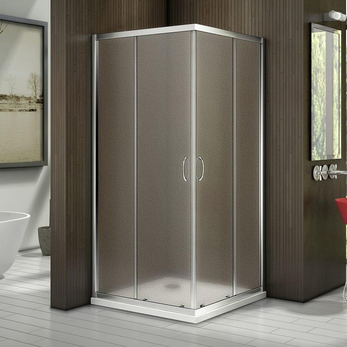 Душевой уголок Good Door Latte CR 100х100 с поддоном, матовый, белый