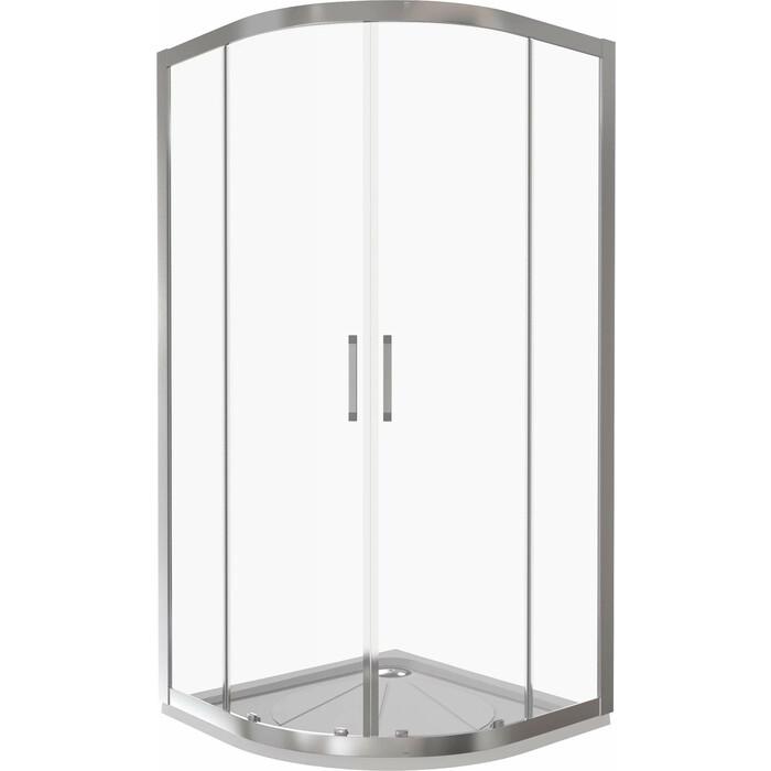 Душевой уголок Good Door Latte R 80х80 с поддоном, прозрачный, белый