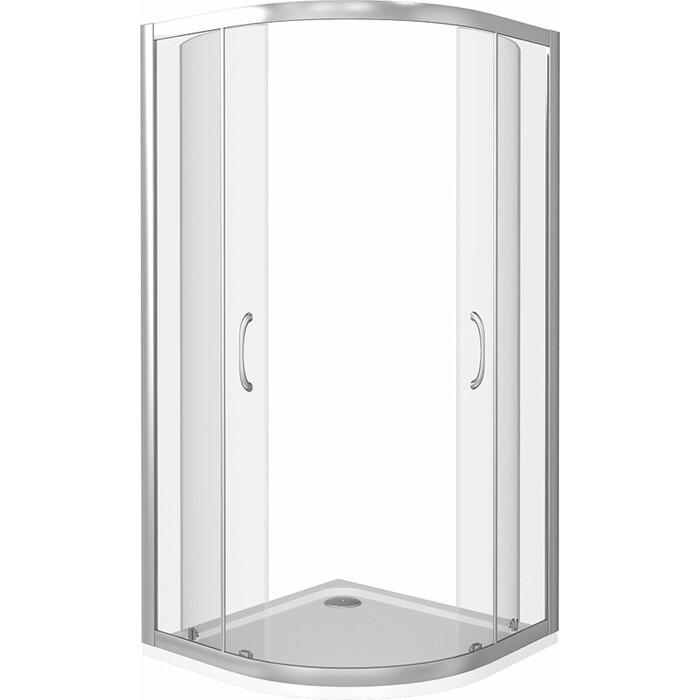 Душевой уголок Good Door Latte R 90х90 с поддоном, прозрачный, белый комплектующие