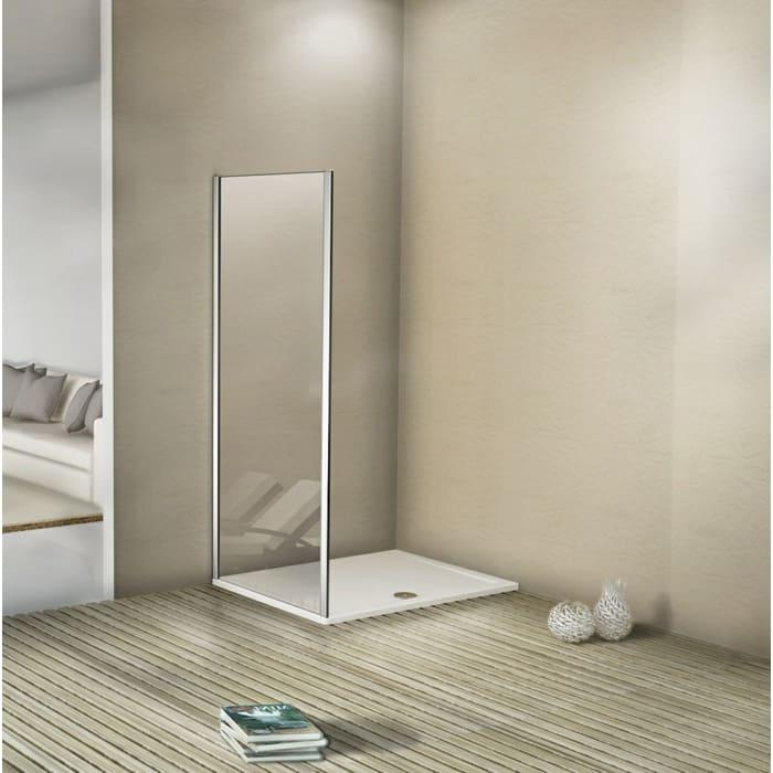 Боковая стенка для душевой двери Good Door Antares 80 Волна, хром (Antares SP-80-W-CH)