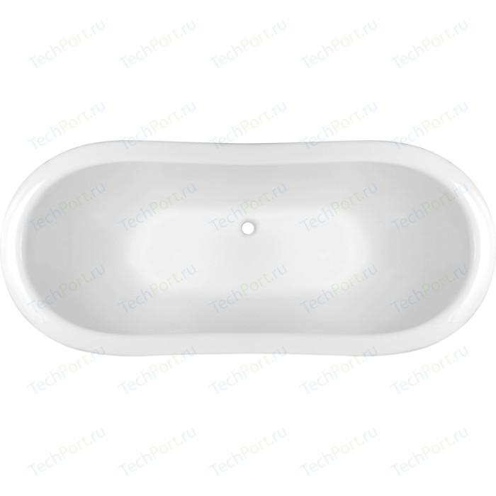 Ванна из литого мрамора Эстет Бостон 180x74 на подиуме (ФР-00001046)