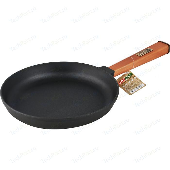 Сковорода Brizoll d 24см Оптима (02440-Р) сковорода d 24 см kukmara кофейный мрамор смки240а