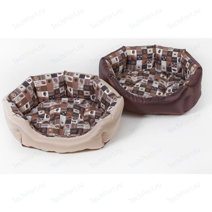 Лежанка Зоофортуна Манчестер Кафе №1 (м-258) для кошек и собак (53*16*40см)