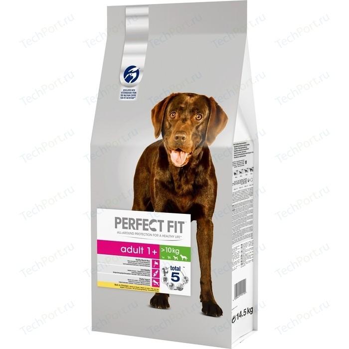 Сухой корм PERFECT FIT Adult 1+ Rich in Chicken с курицей для взрослых собак средних и крупных пород старше одного года 14,5кг (10166113)