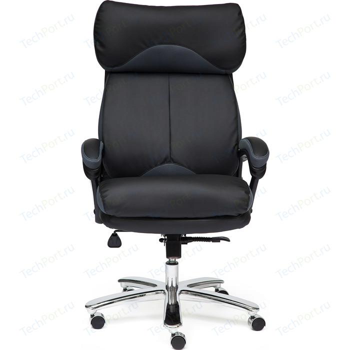 Кресло TetChair GRAND кож/зам/ткань черный/серый 36-6/12