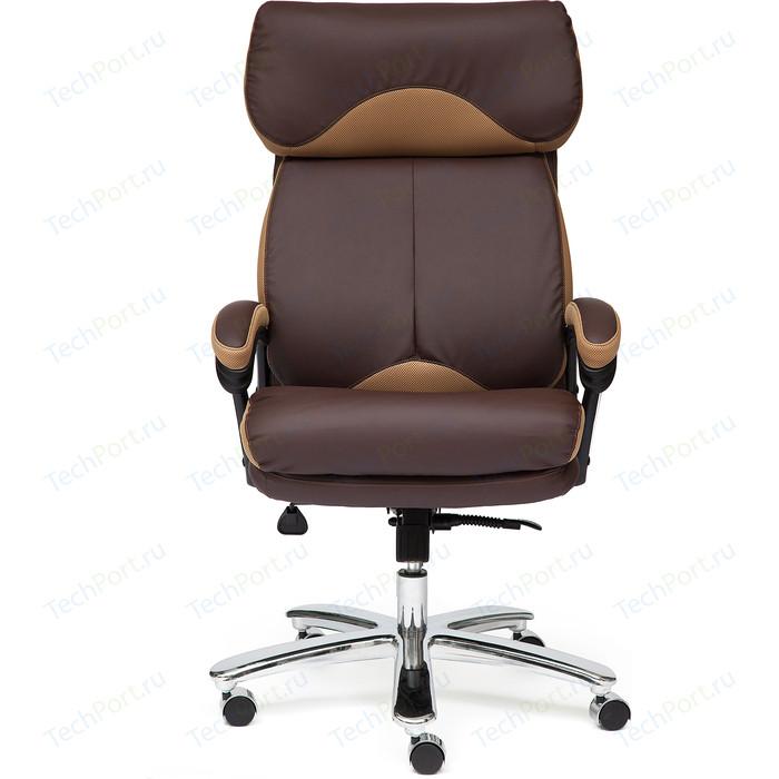 Кресло TetChair GRAND кож/зам/ткань коричневый/бронзовый 36-36/21