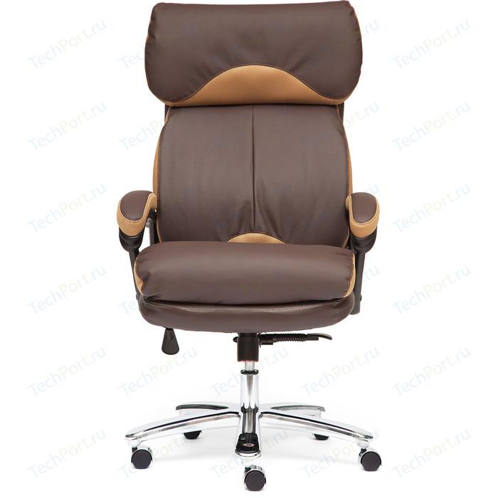Кресло TetChair GRAND кожа натуральная/кож/зам коричневый