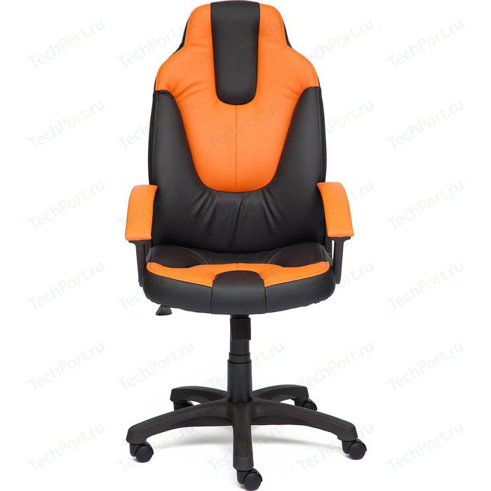 Кресло TetChair NEO2 кож/зам черный+оранжевый 36-6/14-43