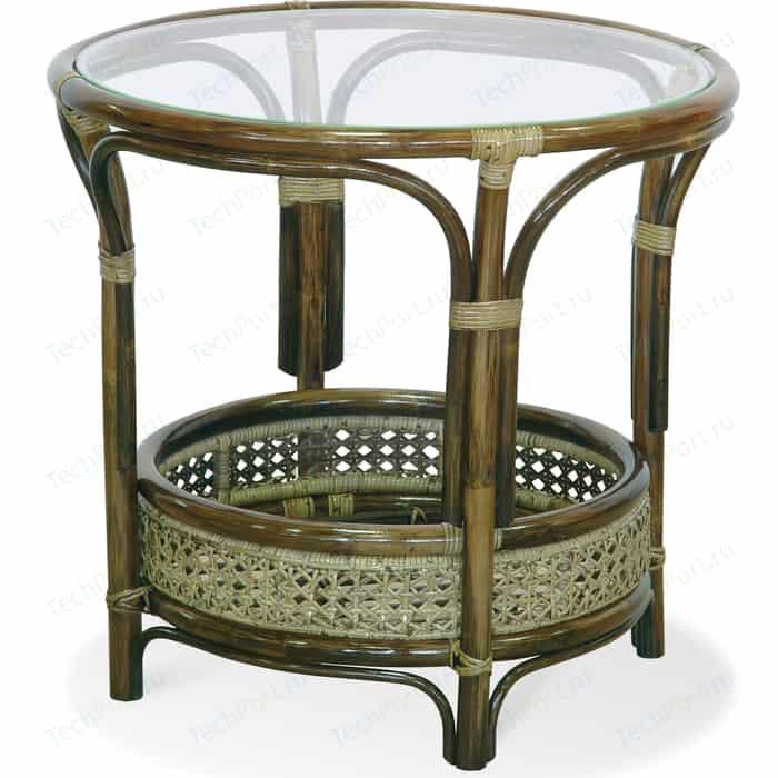 Стол со стеклом Vinotti 02/15A олива